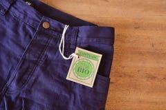Culotte faite avec le tissu organique certifié Images libres de droits