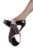 Culotte noire et rose Photographie stock