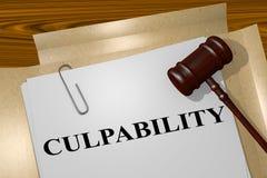Culpabilidad - concepto legal stock de ilustración