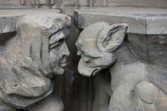 Culpabilidad, vergüenza, dolor. Caen. Iglesia del Saint Pierre Foto de archivo libre de regalías