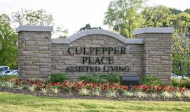 Culpepper Place Assisted Living, Bartlett, TN. Culpepper Place Assisted living retirement home for elderly retired or semi retired men and women royalty free stock photography