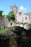 Culross修道院废墟和教会 库存照片
