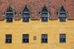 Culross宫殿门面在Culross 免版税库存照片