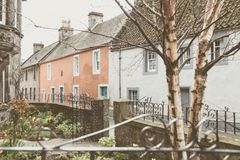 Culross,一个老村庄在苏格兰 免版税图库摄影