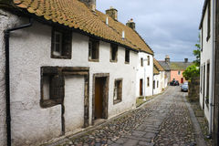 Culross 1. Street in Culross, Fife, Scotland, UK royalty free stock photography