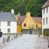 Culross 3. Street in Culross, Fife, Scotland, UK royalty free stock images