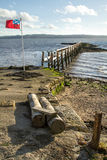 Culross Pier on the River Forth Royalty Free Stock Photography