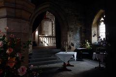Interior of Culross Abbey, Scotland stock photography