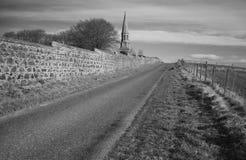 Culshmonument en het kerkhof van de Commonwealth in nieuwe herten aberdeenshire Schotland stock fotografie