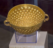 Cult bowl .1 century AD. Gold Royalty Free Stock Image