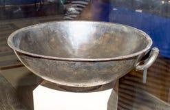 Cult utensils. Basin.1 century AD. Silver Stock Image