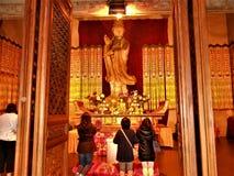Culte et vie de dévotion en Chine Bouddhisme et art photo libre de droits