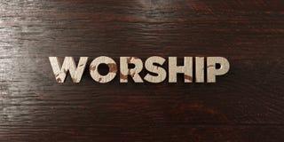 Culte - titre en bois sale sur l'érable - image courante gratuite de redevance rendue par 3D illustration libre de droits