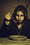 Cultist's breakfast Royalty Free Stock Image