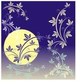 Cultiva un huerto una noche del claro de luna libre illustration