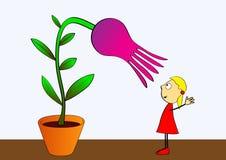 Cultivación de flores - vector libre illustration