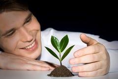 Cultivación de la planta Foto de archivo libre de regalías