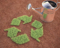 Cultivación del reciclaje stock de ilustración