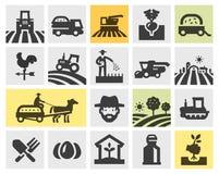 Cultivando los iconos fijados Ilustración del vector Fotos de archivo