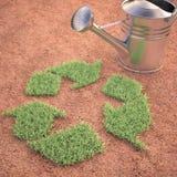 Cultivando a reciclagem Fotografia de Stock Royalty Free