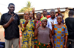 Cultivant la paix et la vie ensemble au centre de la sensibilisation Image libre de droits