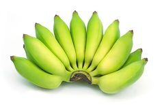 Cultivate banana on isolate white background Stock Image