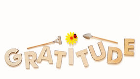 Cultivate Gratitude Concept With Wooden Capital Letters Royalty Free Stock Images