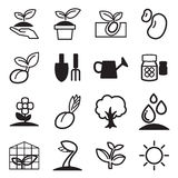 Cultivate & Plant Grow icons set. Vector illustration Graphic design royalty free illustration