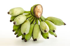 Cultivated banana : Clipping path included. Royalty Free Stock Photo