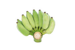 Cultivated banana. Isolated on over white  backgrond Royalty Free Stock Photos