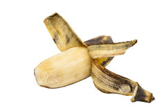 Cultivated banana peeled Royalty Free Stock Photos