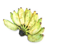 Cultivated banana on white background,Clipping Path. Cultivated banana on white background Royalty Free Stock Photos