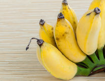 Cultivated Banana wooden panel Stock Photo