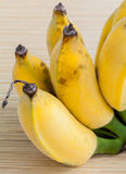 Cultivated Banana wooden panel Royalty Free Stock Images