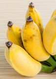 Cultivated Banana wooden panel Royalty Free Stock Photos