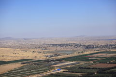Cultivated Camps in Israel near Syria border Stock Photo