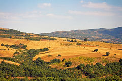 Cultivated fields in Greece Stock Photography