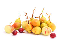 Cultivated fruits on white Stock Photography