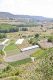 Cultivated land in a rural landscape. Brihuega, Spain Stock Photos