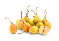Cultivated pears and apples Stock Photo