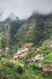 Cultivated terraced fields on the cliff top on the island of Madeira Royalty Free Stock Images