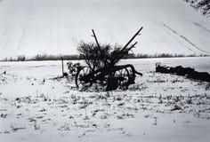 Cultivateur, antiquité à la ferme à Washington oriental photo libre de droits