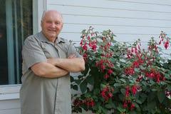 Cultivateur des fleurs photo libre de droits