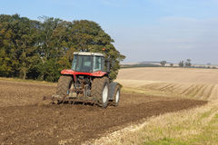 Cultivating an autumn hillside landscape Royalty Free Stock Images