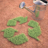 Cultivating Recycling Royalty Free Stock Photography