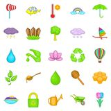 Cultivation icons set, cartoon style. Cultivation icons set. Cartoon set of 25 cultivation vector icons for web isolated on white background Royalty Free Stock Image