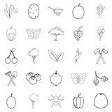 Cultivation icons set, outline style. Cultivation icons set. Outline set of 25 cultivation vector icons for web isolated on white background Royalty Free Stock Images