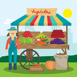 Cultivation of organic products on the farm. Royalty Free Stock Image