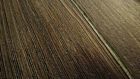 Fresh ploughed field stock footage