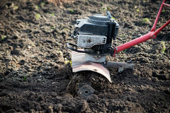 Cultivator, farm machinery agricultural equipment. Outdoor Royalty Free Stock Photo